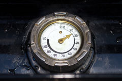 Old water temperature gauge Royalty Free Stock Images