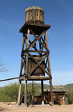 Old Water Tower. An old water tower at Goldfield Ghost Town in Arizona Royalty Free Stock Photography
