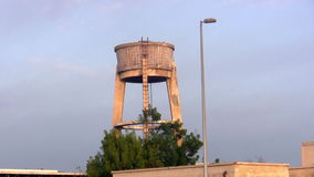 Old water tower of cement Stock Photo