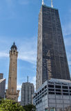 Old Water Tower Chicago Illinois Stock Photos