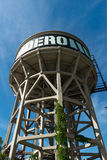 Old water tower in Matadero, Madrid Royalty Free Stock Image