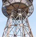 Old water tower at a railway station Stock Photography