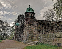 Old water tower, Sweden in HDR. Old water tower built as a castle in Boras, Sweden ... in HDR Stock Photo