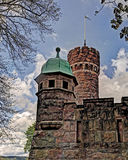 Old water tower, Sweden in HDR. Old water tower built as a castle in Boras, Sweden ... in HDR Royalty Free Stock Photography