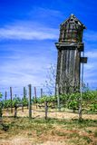 Old water tower in a vineyard royalty free stock photography