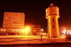Old water tower in Vukovar Stock Photo