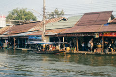 Old water town at Amphawa Stock Images