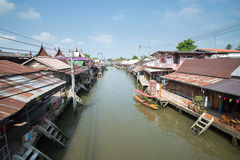 Old water town at Amphawa. Thailand Royalty Free Stock Photo
