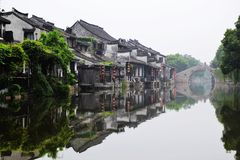 Old water town , old building Royalty Free Stock Photo
