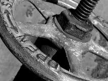 Old water valve gragment Stock Image