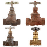 old water valve isolated on a white background. Royalty Free Stock Photography