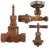 old water valve isolated on a white background. Royalty Free Stock Photo