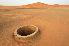 Old Water Well In Sahara Desert Royalty Free Stock Images