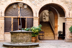 The Old Water Well in Montalcino Royalty Free Stock Photo