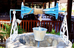 Old Water Well With Pulley and Bucket Royalty Free Stock Photography