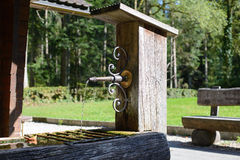 Old water well of wood Royalty Free Stock Image