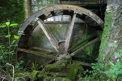 Old water wheel Stock Image
