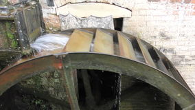 Old Water Wheel. Footage and Audio of an old working water wheel stock video