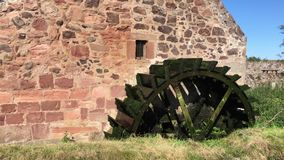 Old Water Wheel Mill stock video footage