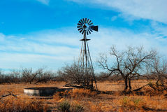 Old Water Windmill. Water windmill in rural Oklahoma Stock Images