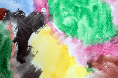 Old watercolor background wet Stock Image