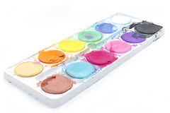 Old Watercolor Paint Stock Photography