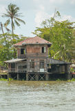 Old waterfront home where no one is living. Stock Photo