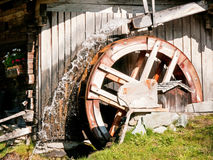 Old watermill. At a farm Royalty Free Stock Images