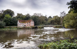 Watermill at Sturmninster Newton. Old watermill on the banks of the river Stour at Sturminster Newton in Dorset Stock Photos