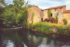 Old Watermill in Charente Maritime, France Royalty Free Stock Photo
