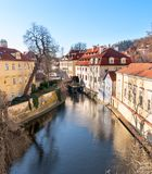 Old watermill on Chertovka river in Prague. Stock Photography