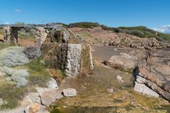 Cape Leeuwin, Western Australia. Old watermill on the coast of Cape Leeuwin, Western Australia royalty free stock photography