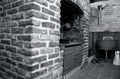 Old watermill interior Stock Photos