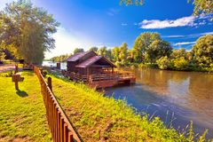 Old watermill on Mura river view Stock Image