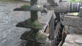 An old watermill running stock video