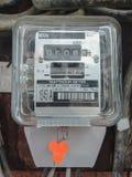 Old Watt hour meter. Old and dusty Watt hour meter Royalty Free Stock Photo
