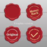 Old wax stamp Royalty Free Stock Photography