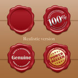 Old wax stamp. Realistic version Smooth & realistic gradient mesh effect vector illustration
