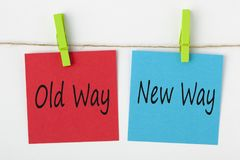 Free Old Way And New Way Concept Stock Photos - 109745433