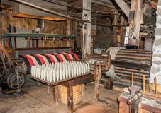 Old Way Industrial Fabric Making Stock Image