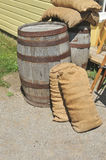 Old Way of life - Dry Goods and Barrels Royalty Free Stock Photos