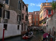 Romantic streets of  old Venice.Italy Stock Photography