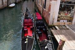 Romantic streets of  old Venice.Italy Royalty Free Stock Photos