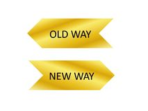 Old Way and New Way Royalty Free Stock Photography