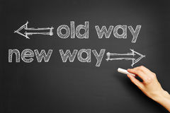 Old way, new way Royalty Free Stock Photography