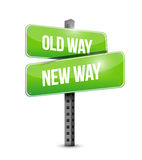 Old way, new way sign illustration design Stock Photos