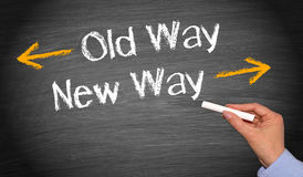 Old way, new way Stock Image