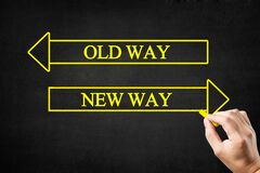 Free Old Way Or New Way Arrows Concept. Royalty Free Stock Image - 191572076