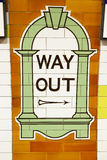 Old way out sign in London underground Royalty Free Stock Images