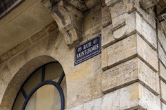 Old way of St James of Compostela in Bordeaux old town Royalty Free Stock Photos